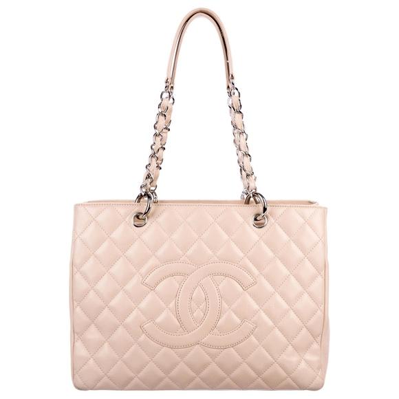 CHANEL Handbags - Chanel Caviar Grand Shopping Tote in Beige Blush